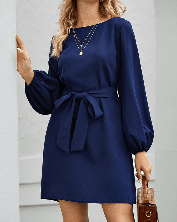 Must Be Love Chic Midi Dress - Navy Blue oh!My Lady