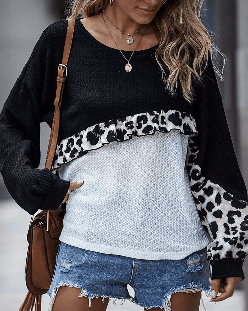 Not Alone Colorblock Knit Sweater - Black oh!My Lady