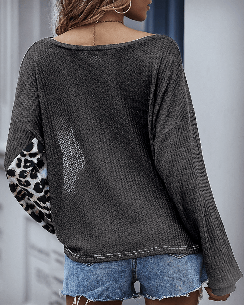 Not Alone Colorblock Knit Sweater - Grey oh!My Lady
