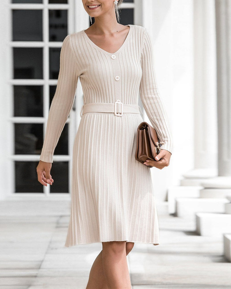 See You Dream V-Neck Midi Dress - Apricot oh!My Lady