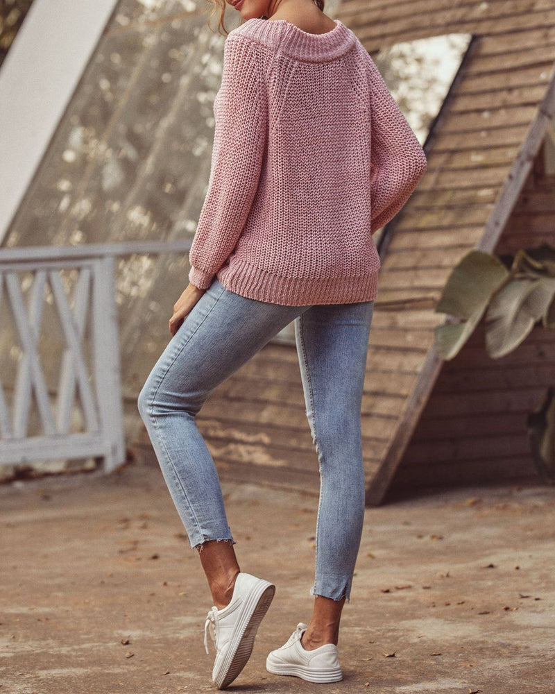 Signature One Shoulder Knit Sweater oh!My Lady