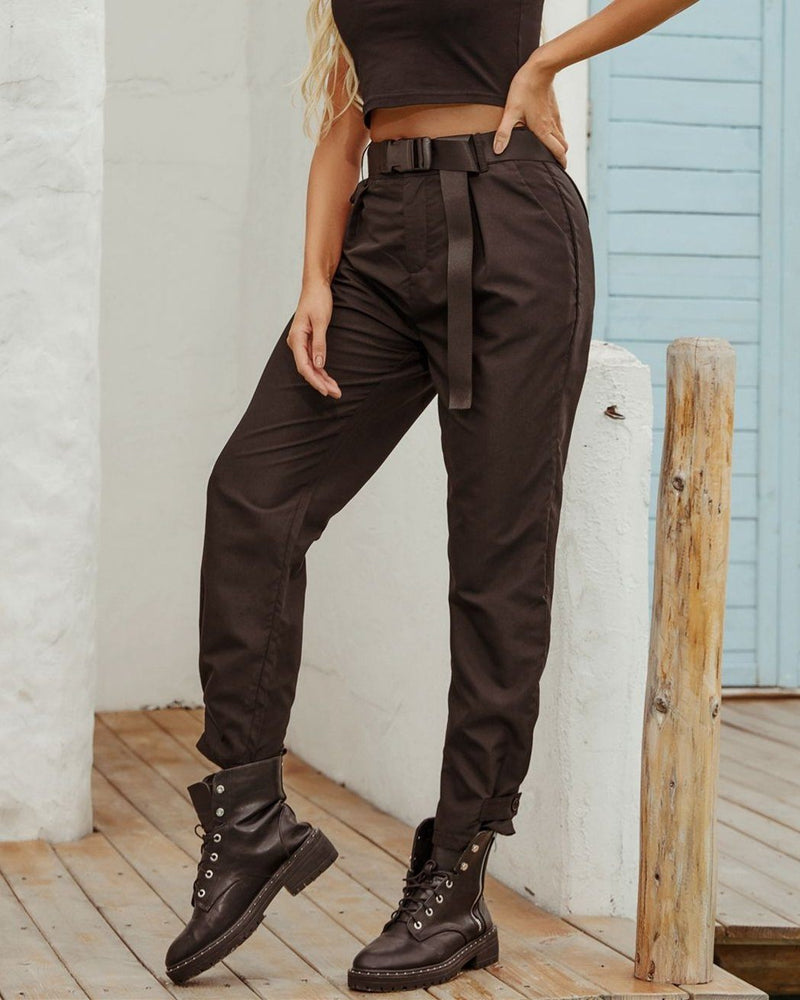 Streetwear Black Cargo Pants oh!My Lady