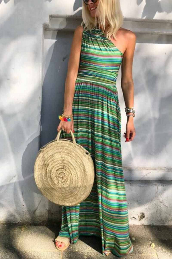 Striped Sleeveless Essential Dress ohmylady/Dresses OML S Green