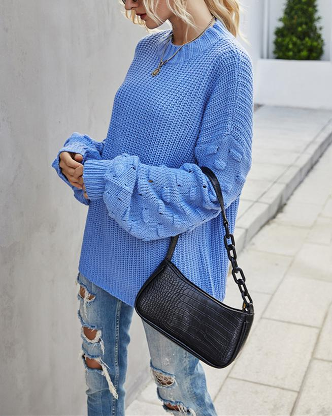 Sunday Love Sweater - Blue oh!My Lady