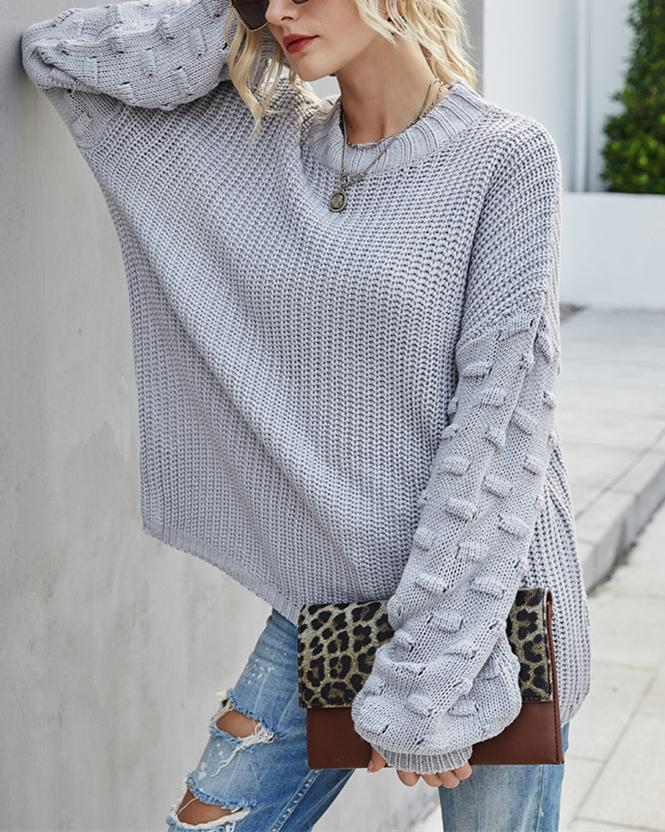 Sunday Love Sweater - Grey oh!My Lady