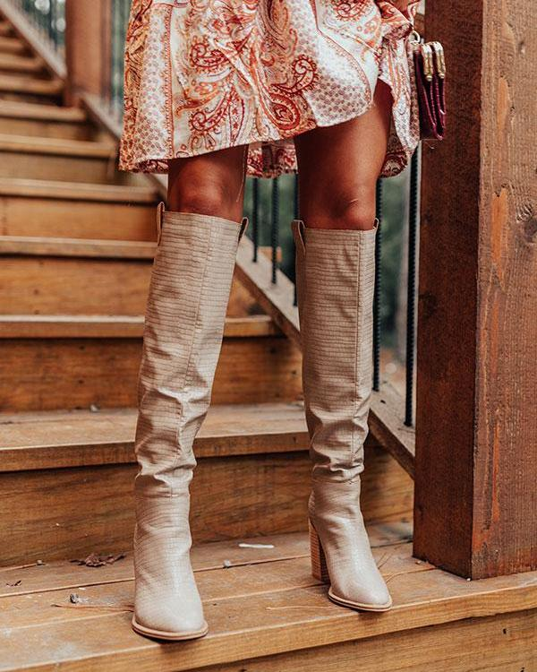 Thigh High Slouch Boot - Warm Taupe High Boots oh!My Lady