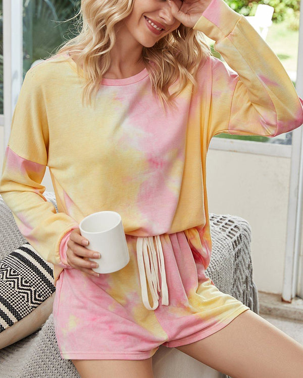 Tie-Dyed Cotton Casual Suit - Dream Heart oh!My Lady