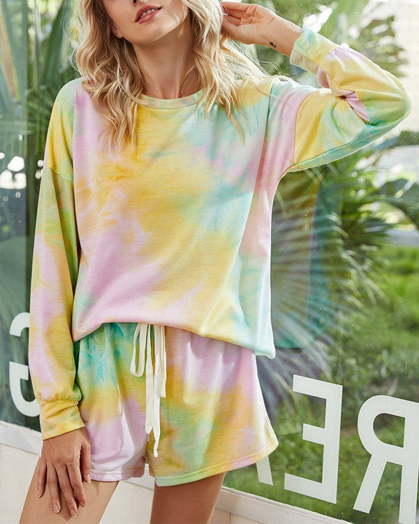 Tie-Dyed Cotton Casual Suit - Hope Field oh!My Lady