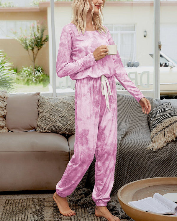 Tie-Dyed Cozy Jumpsuit - Pink Bubble oh!My Lady