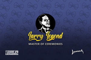"LARRY LEGEND (USA) ""Master of Ceremonies"" Blue Face Mask by @Maz_Trece"