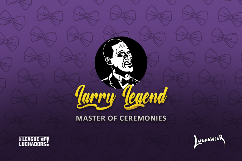 "LARRY LEGEND (USA) ""Master of Ceremonies"" Purple Face Mask by @Maz_Trece"