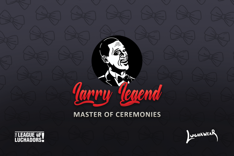 "LARRY LEGEND (USA) ""Master of Ceremonies"" Black Face Mask by @Maz_Trece"