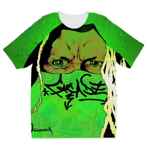 "FACADE USA) ""Greeninja"" Kid's Size T-Shirt by @JackPurcellink"
