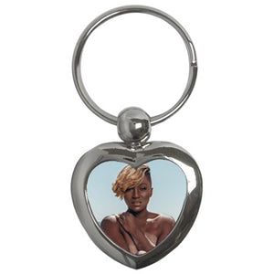 "MJ Jenkins ""Key to Your Heart"" Silver Keychain"