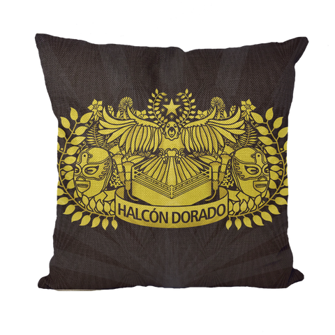 HALCON DORADO (BOLIVIA) by @Maz_Trece Throw Pillows
