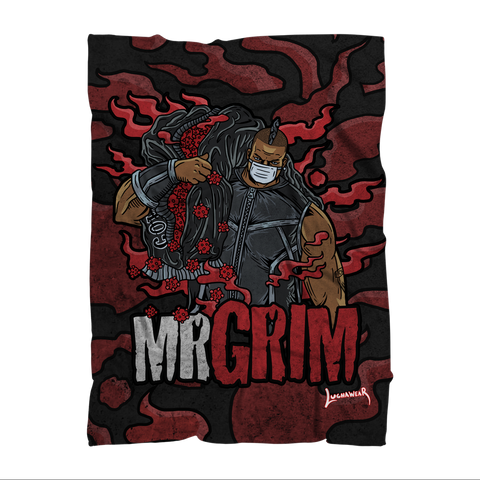Mr Grim (USA) Cov Killer Throw Blanket