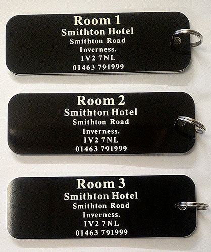 CNC Engraved Hotel Key Fobs