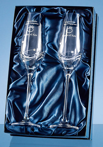 Personalised glassware, crystal, gin, whisky special occasions
