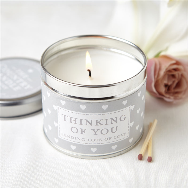 Sentiments Candle in Tin - Thinking Of You