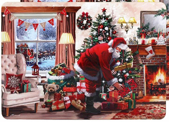 Santa With Presents Set Of 4 Place Mats