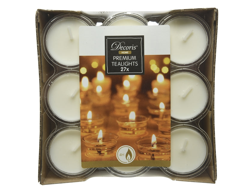 Pack of 27 4hr Tealights