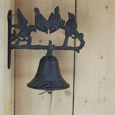 Cast Iron Working Doorbell With 4 Birds Perched On The Top