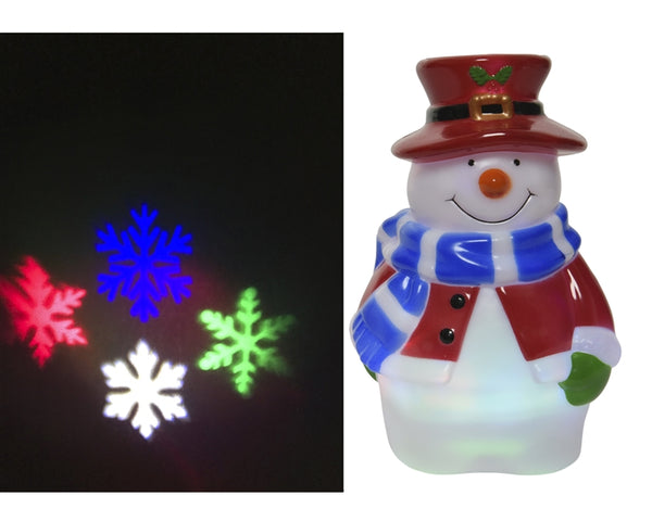 LED Snowman Christmas Projector