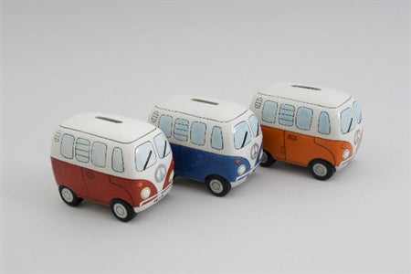 Small Campervan Money Banks - 3 Assorted 11cm - Culzean Gifts