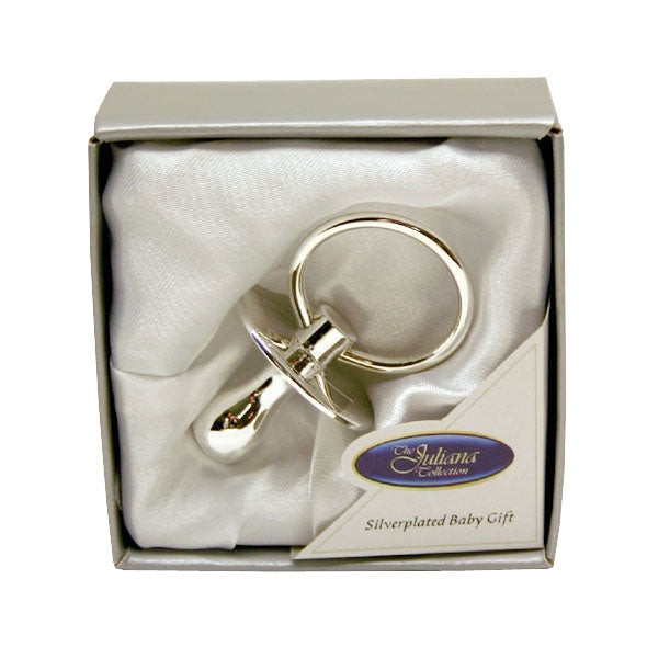 Engraved Personalised Silver Plated Dummy 5.5cm - Culzean Gifts