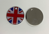 Engraved 25mm nickel plated flag design pet tags.union jack