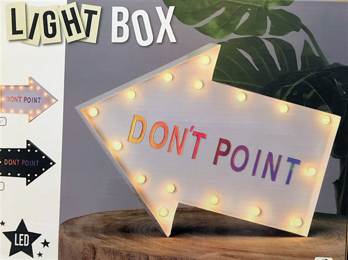30cm Wide Arrow Shaped Light Box With Magnetic Letters - Culzean Gifts