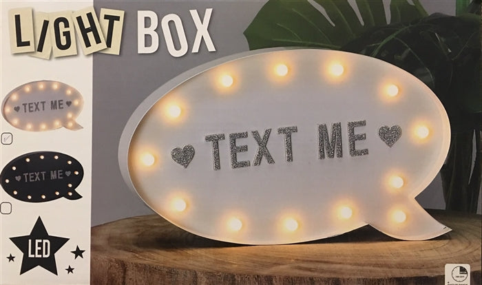 Speech Bubble Shaped Light Box With Magnetic Letters 29cm - Culzean Gifts