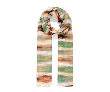 Green Brown Abstract Scarf 180cm