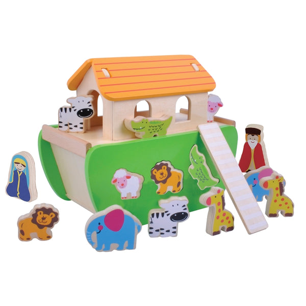 Wooden Noah's Ark Shape Sorter with Animals - Culzean Gifts