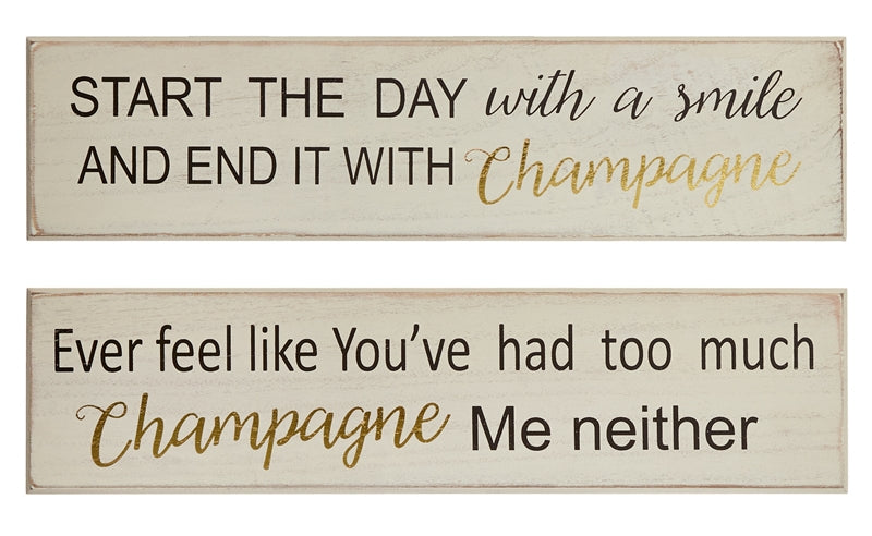 Champagne Wall Plaques
