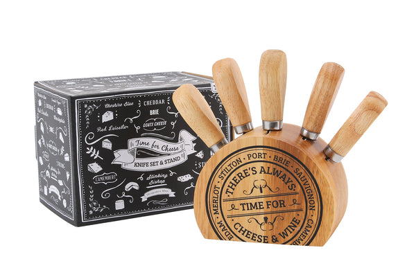 5 piece Cheese Block Knife Set - Culzean Gifts