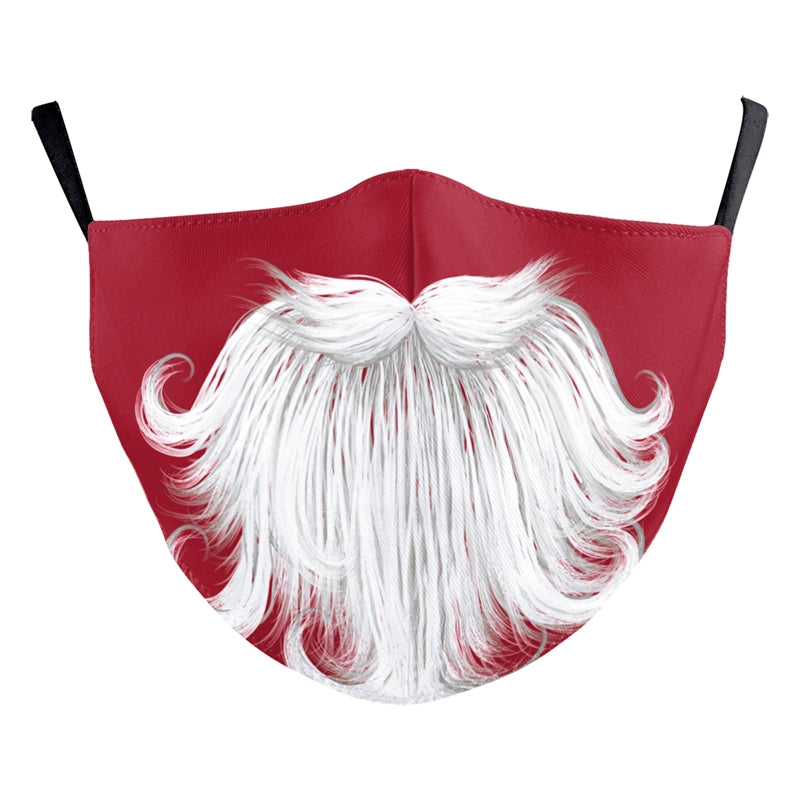 Reusable Face Mask - Santa Beard