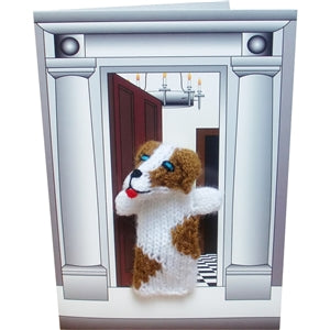 Spaniel Dog Finger Puppet Greetings Card - Culzean Gifts