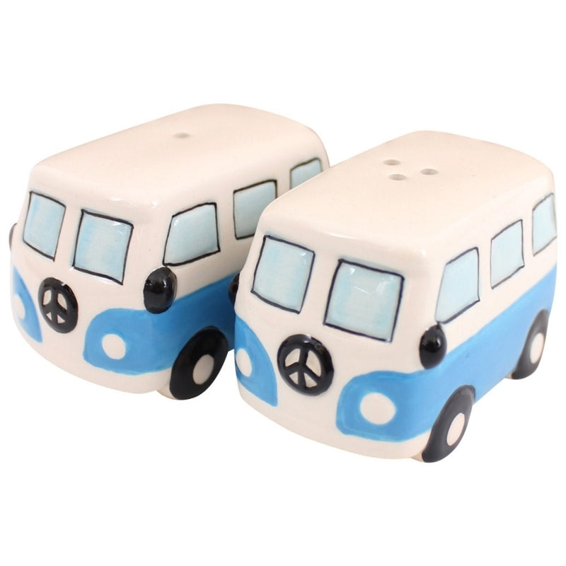 Blue Campervan Cruet Set