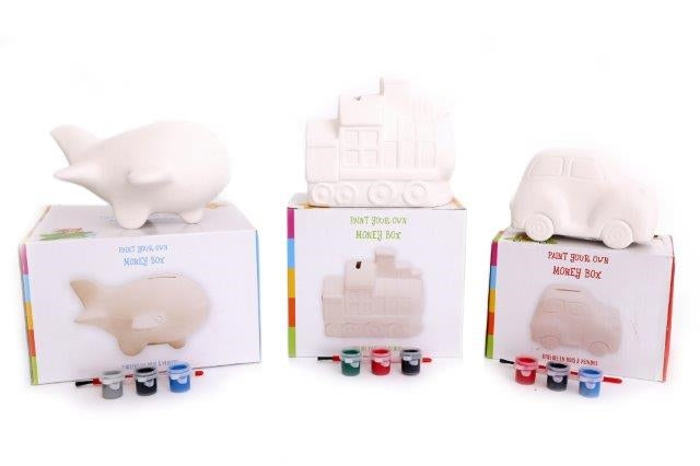 Paint Your Own Money Bank 10cm