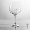 Single Diamante Engraved Personalised Gin Glass with Spiral Design Cutting - Engraved - Culzean Gifts