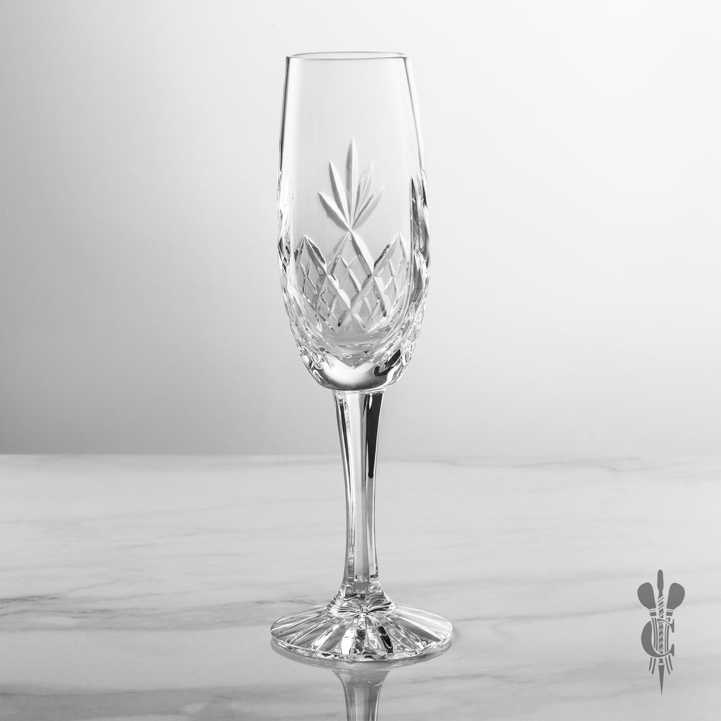 Blenheim Crystal Personalised Glass Champagne Flute - Personalised Engraved Gift - Culzean Gifts
