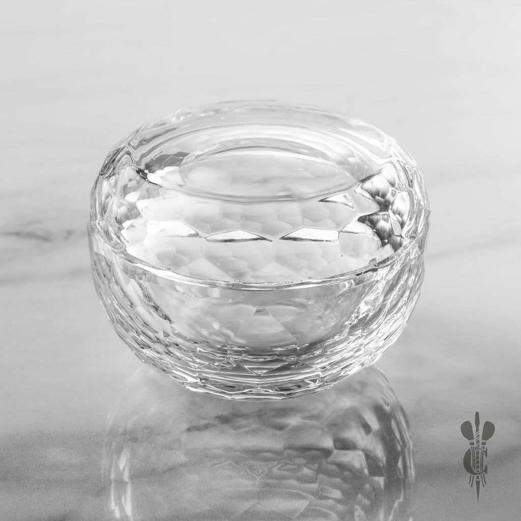 Optical Crystal Facet Trinket Dish - Engraved Glassware - Culzean Gifts