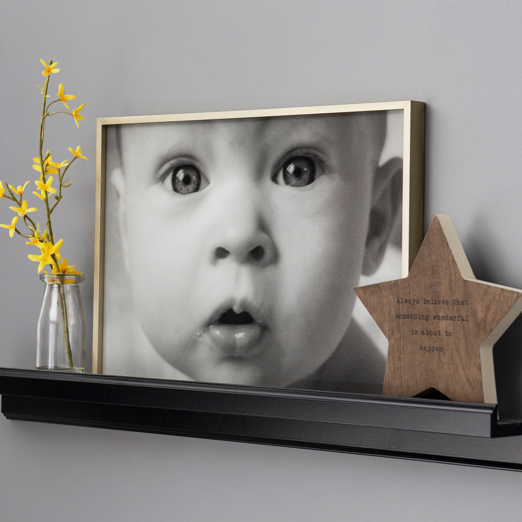 Engraved Personalised Portrait Framed Photo Print  - Direct Print to Glass A4, A3 or A2 - Culzean Gifts