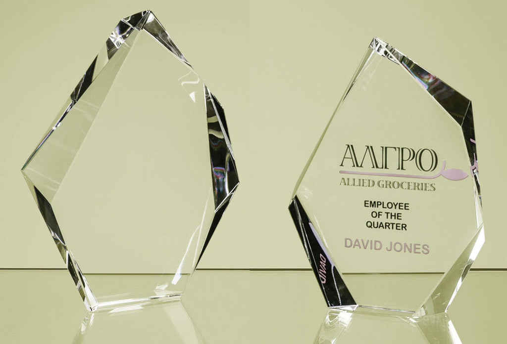 Stunning Engraved Personalised Glass Plaque Trophy - Culzean Gifts