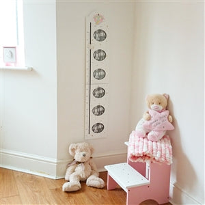Wooden Unicorn Height Chart with Photos & Magnetic Slider