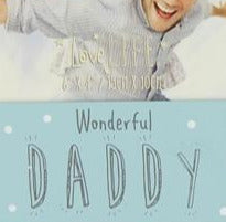 Wonderful Daddy Frame 17.5cm