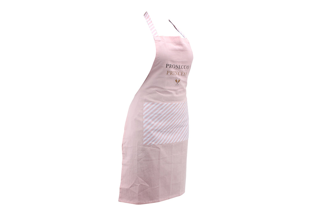 Pop, Fizz, Clink Prosecco Princess Apron with Matching Drawstring Bag - Culzean Gifts