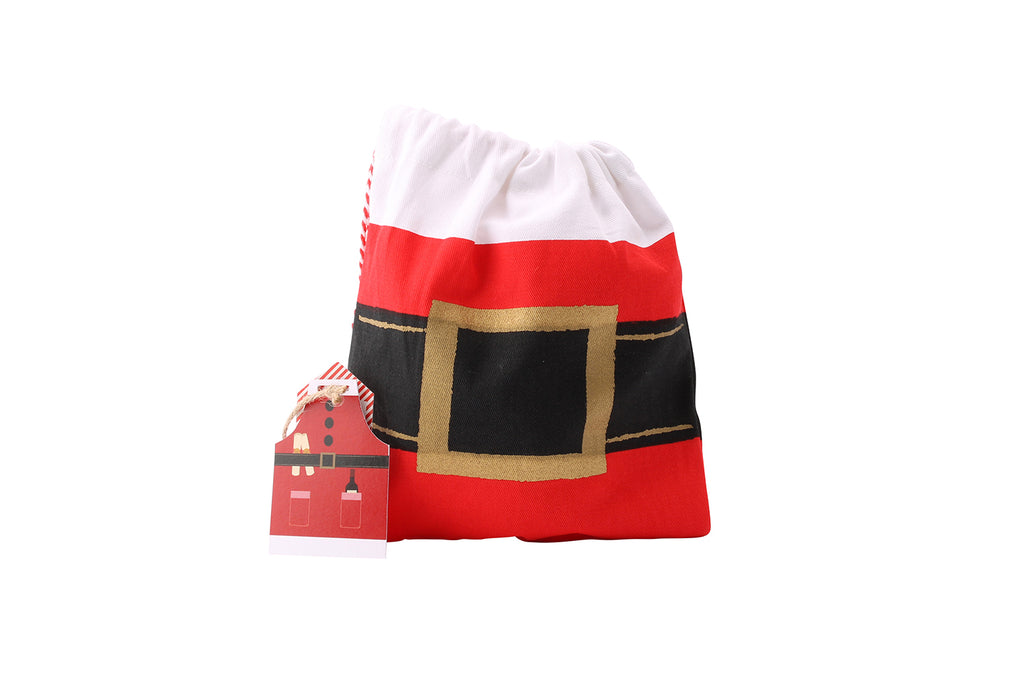 Adult Santa Apron with Matching Drawstring Bag - Culzean Gifts