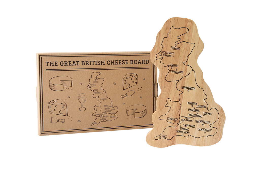 Engraved Personalised Wooden Great British Cheese Board - Culzean Gifts